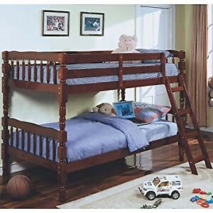 Cherry Wood Twin / Twin Bunkbed w/ Ladder