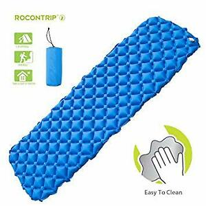 Inflatable Sleeping Pad, Ergonomic Moisture-Proof Portable Sleep