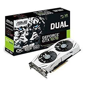 New Asus Geforce GTX1070 8GB Gddr5 Dual OC Edition