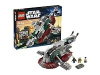 LEGO STAR WARS 8097 SLAVE 1 WITH ALL PIECES AND INSTRUCTIONS