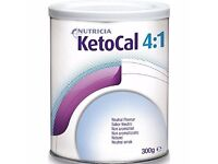 Nutricia KetoCal 4:1 unflavoured powder for ketogenic diet. 300g tin