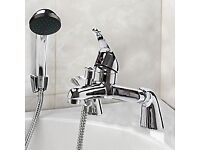 Brand New Modern Chrome Bath Filler Hand Held Shower Mixer Tap Bathroom