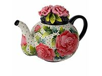 Rose Teapot by Jeanette McCall/Blue Sky ICING ON THE CAKE - Brand New & Boxed!