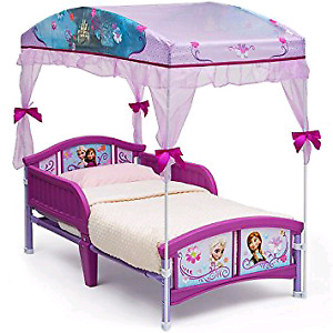 Used Disney frozen bed with canopy