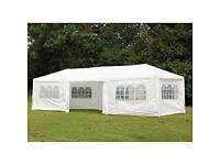 Brand new 10x30' white gazebo, side walls and carry bag