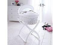 Izziwotnot white moses basket