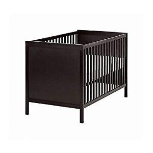Lit pour bébé ikea sundvik brun noir