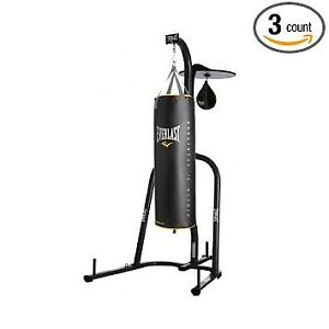 Heavy bag and speed bag with stand