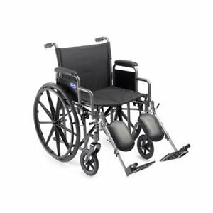Self Transport folding Wheelchair with Footrests