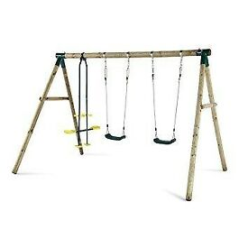 PLUM TRIPLE SWING SET, BRAND NEW, DELIVERY AVAILABLE