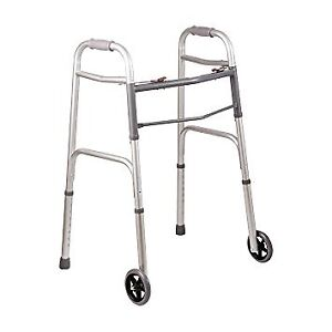 New aluminum walker with 2 wheels ,and 2 skid T 6477818987