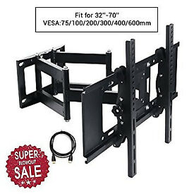 TV Wall Bracket Mount Tilt & Swivel 22-70'' LCD LED Curved screens up to 45kg and Max 600*400mm