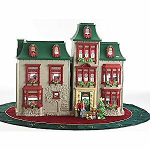 Rare Fisher Price Christmas Themed Dollhouse Fully Furnished