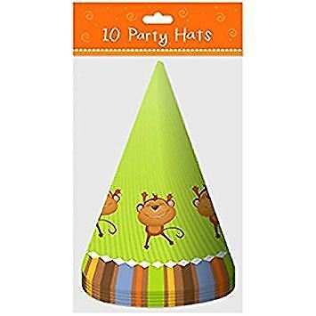 Jungle Theme 10 Hats For Birthday & Christmas Party Celebration Fun Enjoy ()