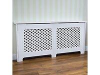 White Oxford radiator cover 81.5x111.5x20cm