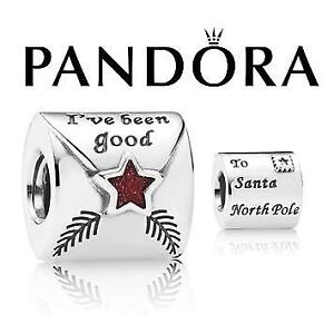 NEW STAMPED 925 PANDORA CHARM 791390EN58 144228885 JEWELLERY JEWELRY STERLING SILVER CHRISTMAS LETTER TO SANTA
