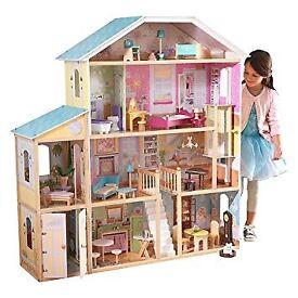 Huge KidKraft Majestic Mansion wooden dolls house with furniture