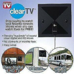 Clear TV Indoor HD Antenna tv , pick up free, high  definition program No contracts! No monthly fees!  No price hikes!