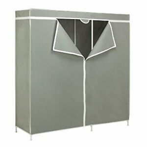 "60"" WARDROBE STRORAGE GARMENT RACK CLOSET"