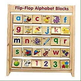 Children's alphabet block toy