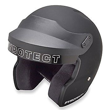 Pyrotect Helmet-Pro Airflow Open Face-Flat Black XS-9120995-SA2010