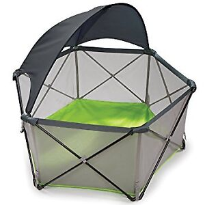 Summer Infant pop and play yard with sun shade