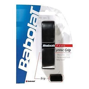 BABOLAT SYNTEC PRO BLACK REPLACEMENT GRIPS - 4 GRIPS PACK