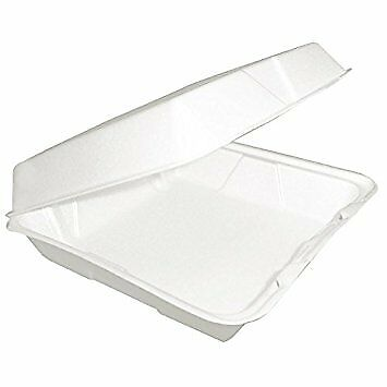 Dart 85HT1R, 8x8x3-Inch One Compartment Foam Containers with Hinged Lid, 100 ()