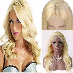 Blonde frontal lace wig 100% human hair