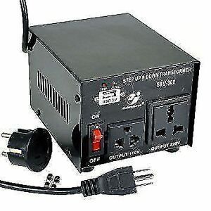 VOLTAGE CONVERTER 300 WATTS STEP UP/STEP DOWN 110/220-220/110