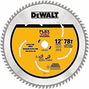 DEWALT DWAFV31278 Lame pour scie à onglets 78 dents, 304,8 mm (12 po) FLEXVOLT neuveee