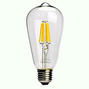 8 Ampoules LED style antiques