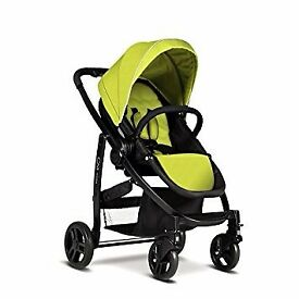 Graco Evo Lime Green Pram, Car seat, Footmuff and Raincover