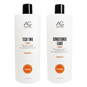 AG 1L bottles of shampoo and conditioner