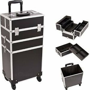 Professional Makeup Artist Cosmetic Hair Styling Rolling Case