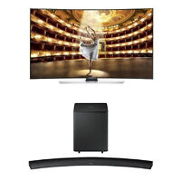 HU9000 SAMSUNG 4K CURVED UHD SMART SERIES w/ curved soundbar pkg