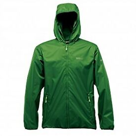 Regatta Lever II Mens Bright Lightweight Waterproof Breathable Jacket Green