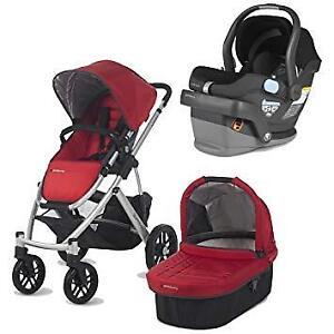 Uppababy Vista Stroller-bassinet-..(..Car seat + adapter)*