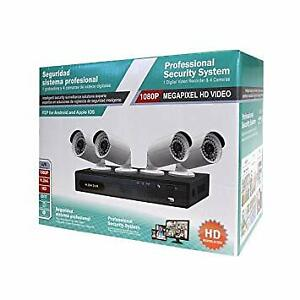 PROFESSIONAL SECURITY SYSTEM, DVR WITH 4 CAMERA $369.99