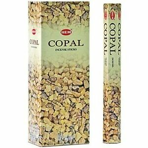 Copal - Box of Six 20 Stick Tubes - HEM Incense brand new in box