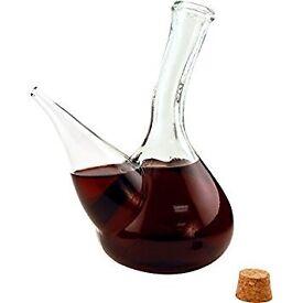 Catalan glass porron wine