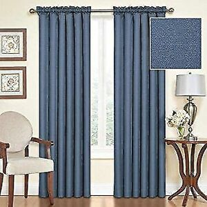 NEW: Eclipse Black out Rod Pocket Curtains(Reg. $56.43 per pair)