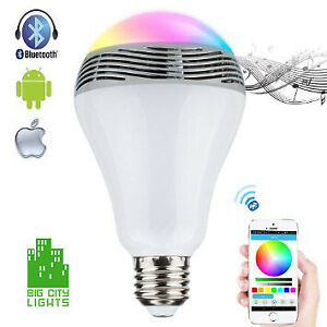 LED Multi-Colour Bulb with built in Bluetooth Speaker!