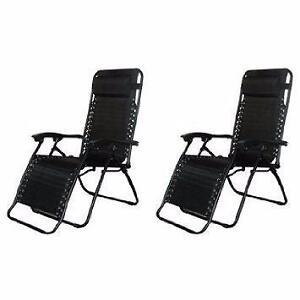 New, Set of 2 Caravan Sports Infinity Zero Gravity Chair, Black