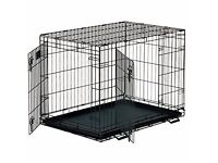 Small dog crate - two door opening