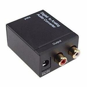 DIGITAL OPTICAL COAX COAXIAL TOSLINK TO ANALOG RCA AUDIO CONVERTER FOR $39.99