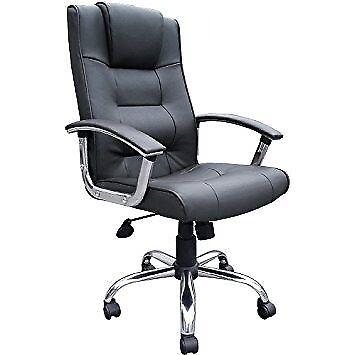 Niceday Berlin Leather Faced Executive Chair Black