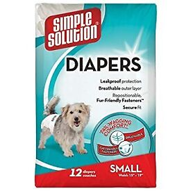 6 pc female disposable dog diapers simple solution small size