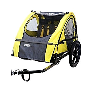 Bicycle trailer, double - two kids