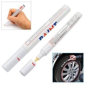 stylo pneu marqueur blanc peinture pour voiture auto moto m tal roue jantes alu. Black Bedroom Furniture Sets. Home Design Ideas